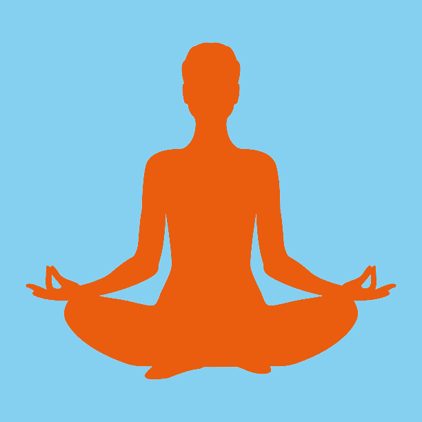 silhouette_yoga_orange_fond_bleu